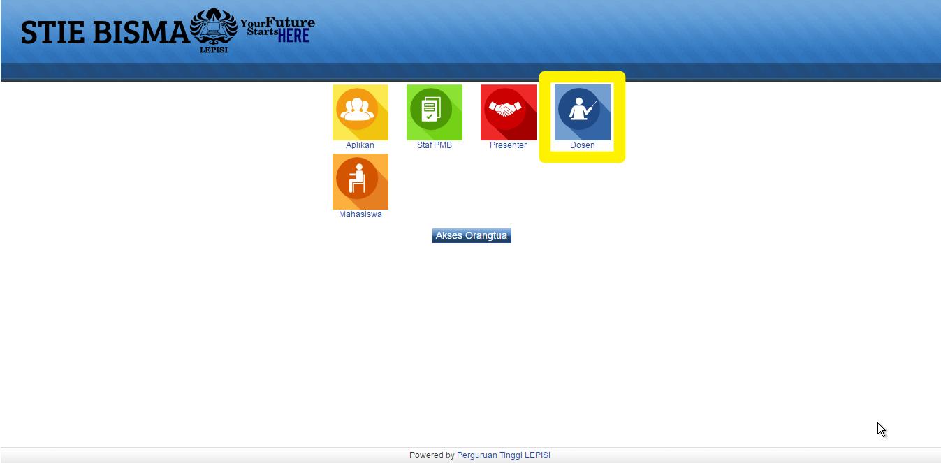 2.halaman menu sisfo