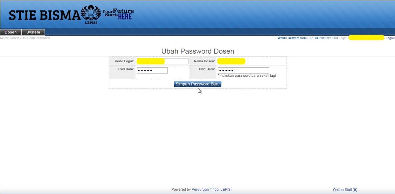 6.halaman ubah password