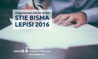 Pengumuman Sidang Skripsi STIE BISMA LEPISI Tangerang 2016