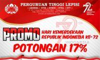 Promo Penerimaan Mahasiswa Baru Perguruan Tinggi Lepisi 2017/2018 Tangerang